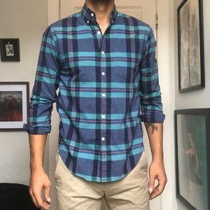 J. Crew Plaid Cotton Button Down Shirt